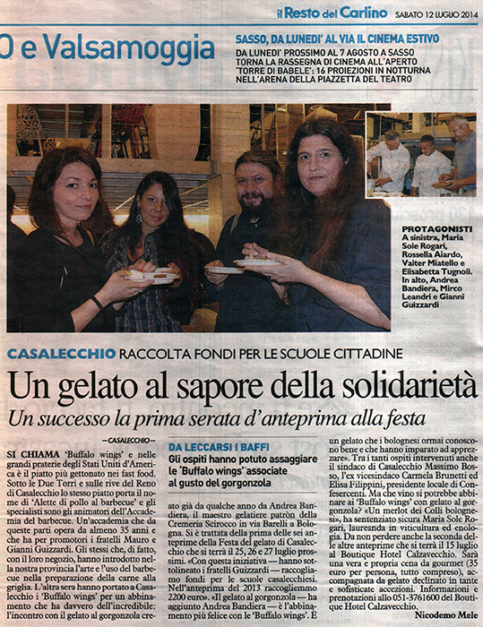 Quotidiano Resto del carlino 12 – 07 – 2014