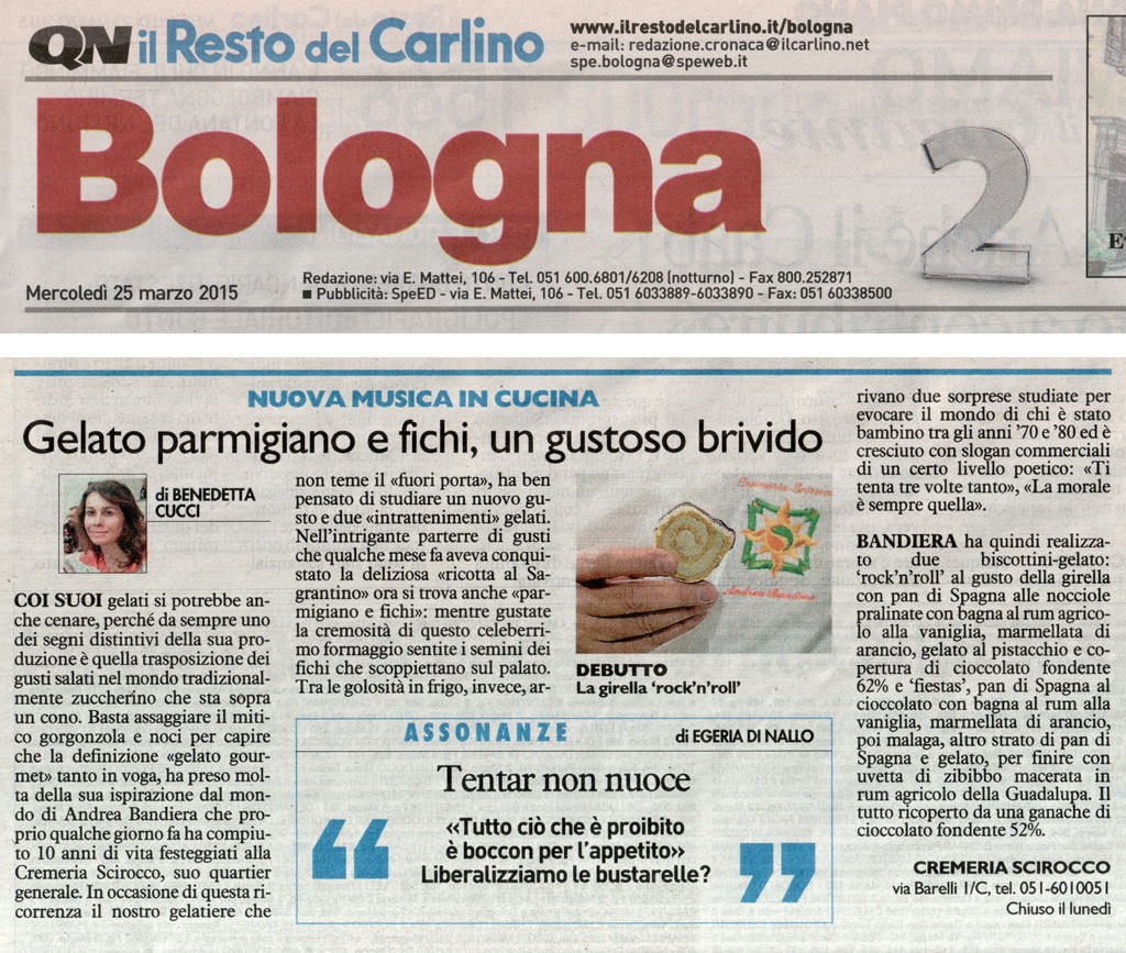 Quotidiano Resto del carlino 25 – 03 – 2015